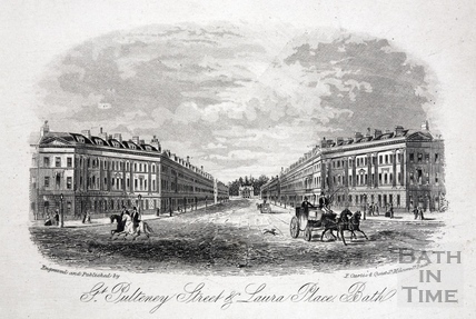 Great Pulteney Street and Laura Place, Bath c.1860