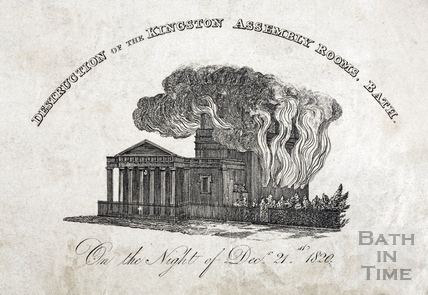 Destruction of the Kingston Assembly Rooms, Bath 1820