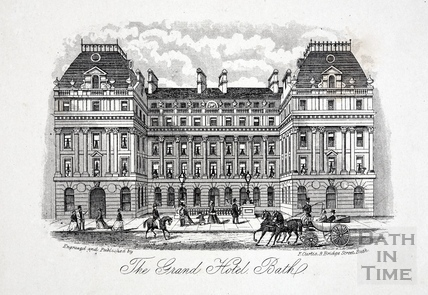 The Grand Pump Room Hotel, Stall Street, Bath c.1873