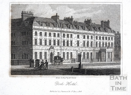 York Hotel, York Buildings, Bath 1819