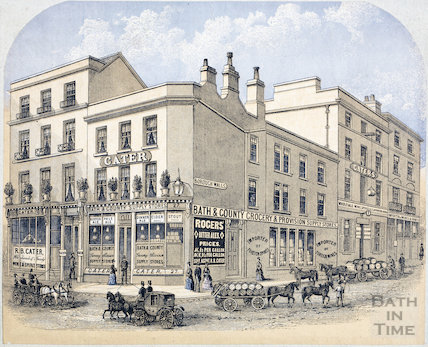 Cater's Stores, 27, High Street and 29 & 30, Upper Borough Walls, Bath c.1870