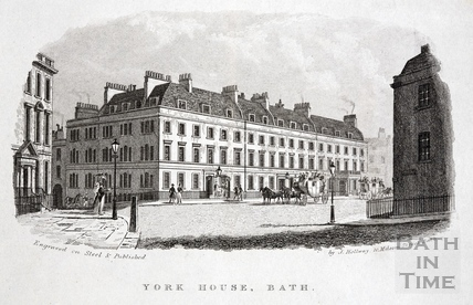 York House Hotel, York Buildings, Bath c.1837