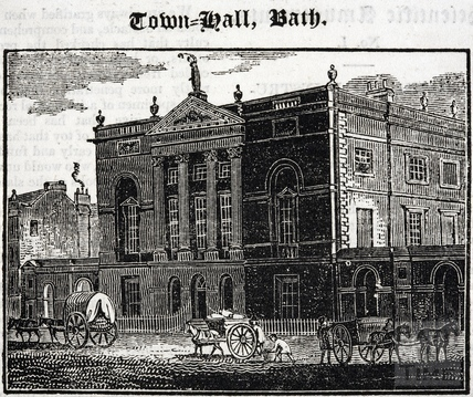 Town Hall (Guildhall), High Street, Bath 1824