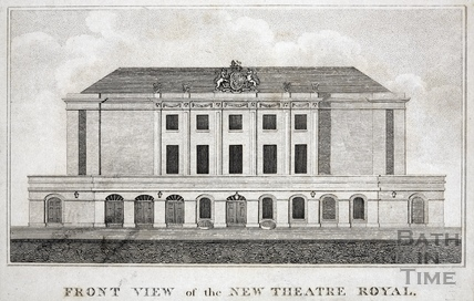 Front view of the New Theatre Royal, Bath 1807
