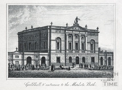 Guildhall and entrance to the Markets, High Street, Bath 1839