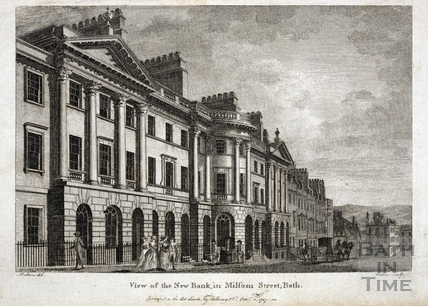 View of the New Bank, Milsom Street, Bath 1787