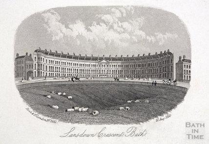 Lansdown Crescent, Bath 1858