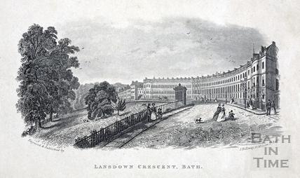 Lansdown Crescent, Bath c.1845