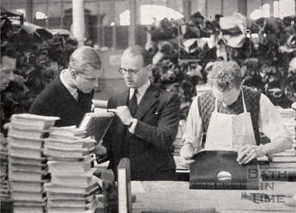 Lieut. Philip Mountbatten R.N. at George Bayntun, Manvers Street, Bath 1947