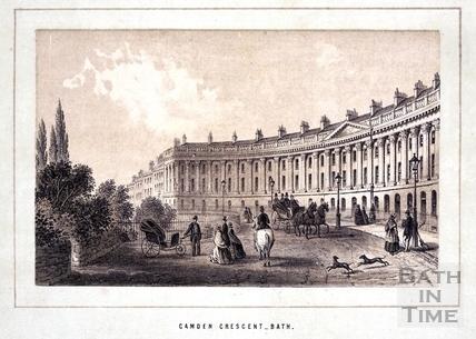 Camden Crescent, Bath 1861