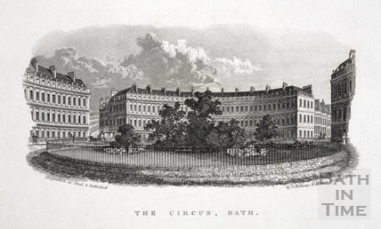 The Circus, Bath c.1846 - detail