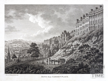 Bath from Camden Place (Crescent) 1794