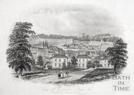 View of Camden Place (Crescent) &c. from Bathwick Park, Bath 1844