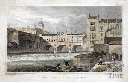 Pulteney Bridge, Bath 1829
