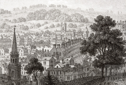 Bath from Camden Place (Crescent) 1794 - detail