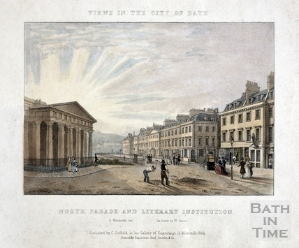 North Parade and Literary Institution, Bath 1828