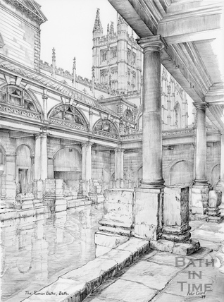 The Roman Baths, Bath 1977