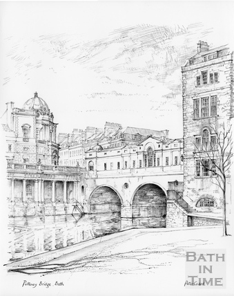 Pulteney Bridge, Bath c.1977