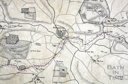 Plan of the intended Bristol Junction canal from Wootton Bassett to Bristol Docks 1811 - detail