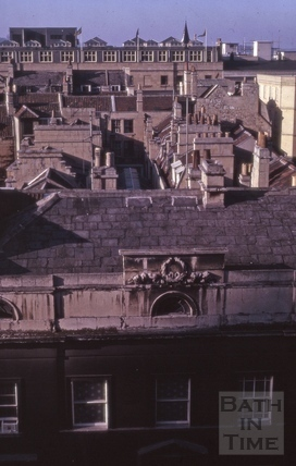 The Corridor from the Guildhall roof, Bath 1964