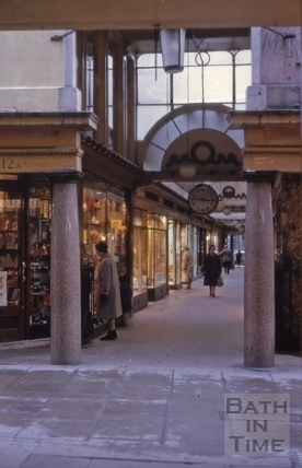 The Corridor entrance from Union Passage, Bath 1962