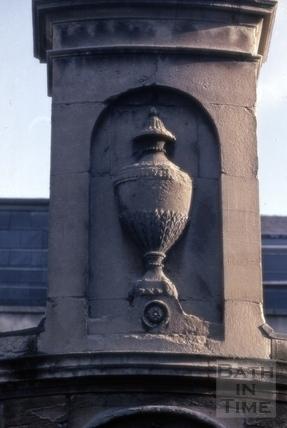 Carved vase, the Cross Bath, Bath 1969