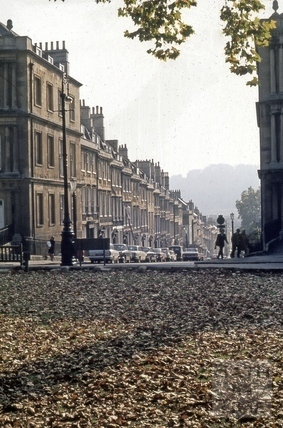 Gay Street from the Circus, Bath 1973