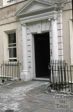 Doorway, 3, Duke Street, Bath 1973
