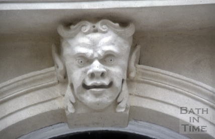 Keystone mask, 41, Gay Street, Bath 1985
