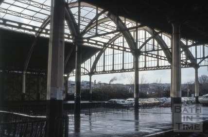 Train shed, Green Park Station, Bath 1977