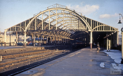 Train shed, Green Park Station, Bath 1964
