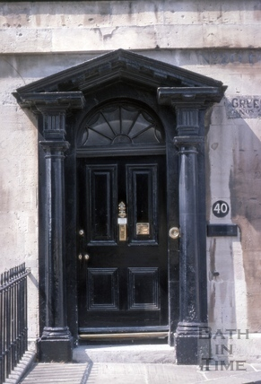 Doorway, 40, Green Park, Bath 1975