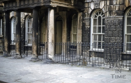 Central doorway, 23, Grosvenor Place, Bath 1966