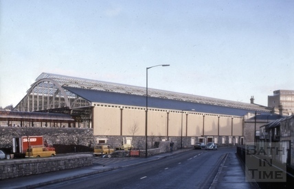Restored train shed, Green Park Station, Bath 1982