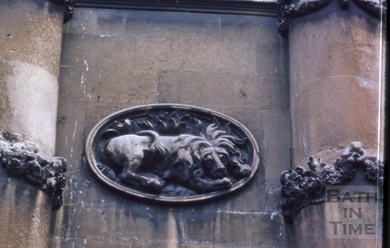 Detail of carved ovals, 23, Grosvenor Place, Bath 1966
