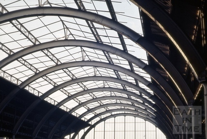 Main roof span, Green Park Station, Bath 1964