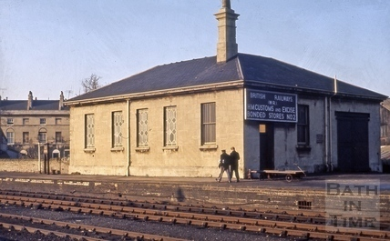 Bonded store, Green Park Station, Bath 1964