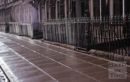 Concrete paving, Henrietta Street, Bath 1965