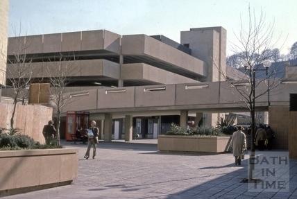 Ham Gardens car park, Bath 1976