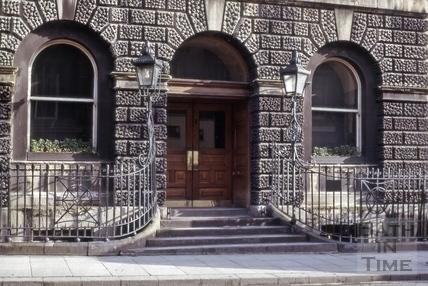 Central doorway, Guildhall, High Street, Bath 1965