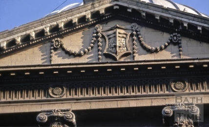 Pediment, Guildhall, High Street, Bath 1969