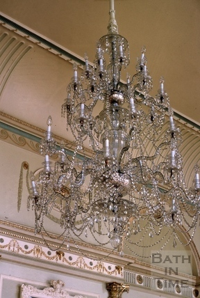 Banqueting room chandelier, Guildhall, High Street, Bath 1963