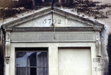 Window with Masonic date, 25, Grove Street, Bath 1967