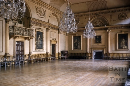 Banqueting room, Guildhall, High Street, Bath 1956