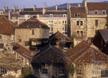 Grove Street from the riverside, Bath 1974