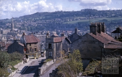 Holloway corner with Old Orchard, Bath 1963