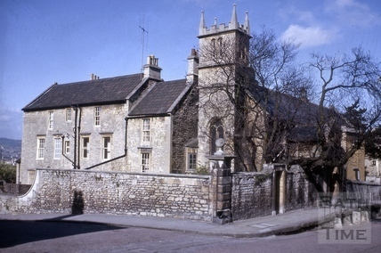 Magdalen Road, Paradise Cottage and St. Mary Magdalen's Chapel, Holloway, Bath 1964