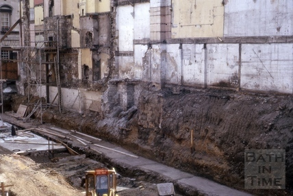 Excavations, 23 & 24, High Street, Bath c.1965