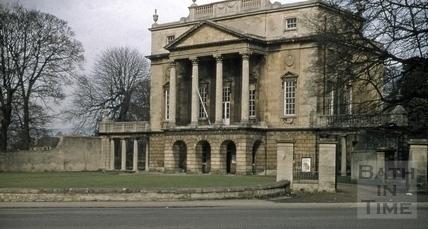 Holburne Museum from Darlington Street, Bath 1955