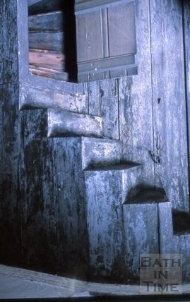 Staircase, 24, High Street, Bath 1964